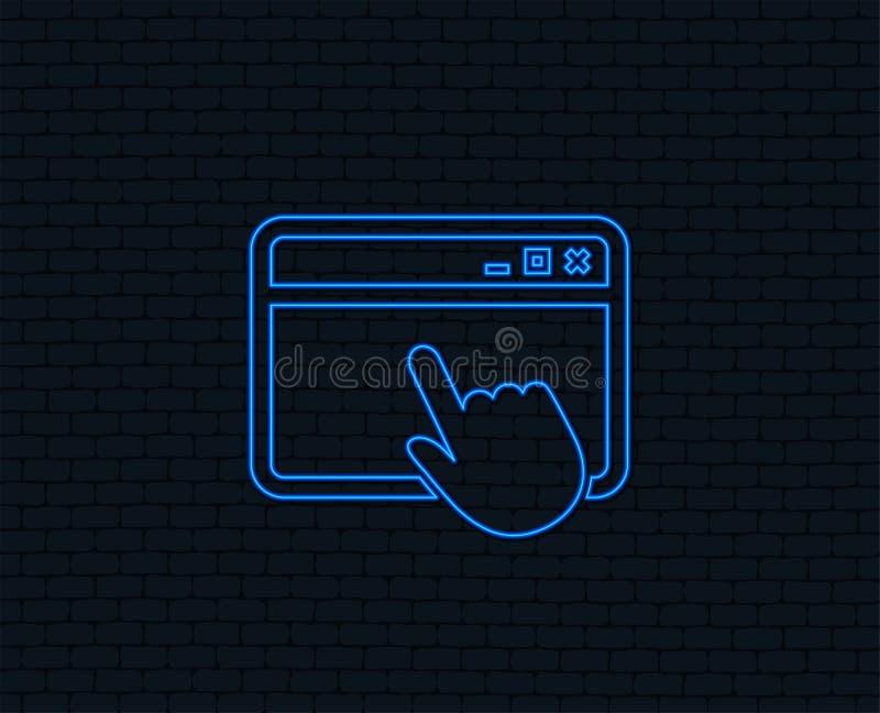 Klik paginapictogram Browser vensterteken vector illustratie