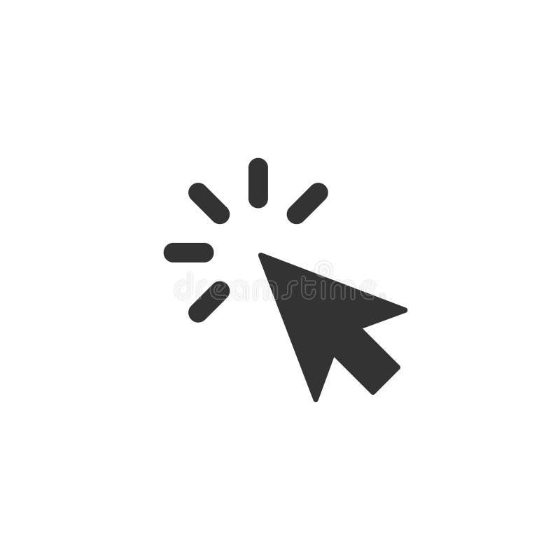 Klik pictogram in eenvoudig ontwerp Vector illustratie stock illustratie
