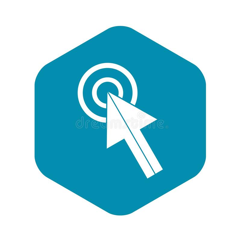Klik pictogram, eenvoudige stijl stock illustratie