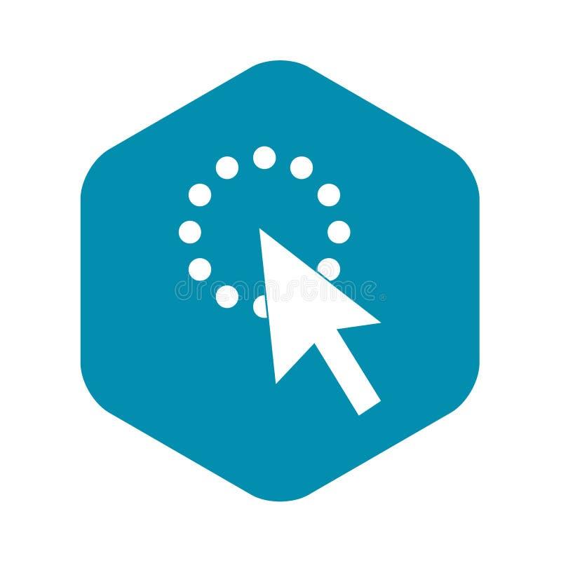 Klik pictogram, eenvoudige stijl vector illustratie