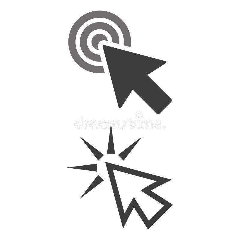 Klik pictogram op witte achtergrond vector illustratie