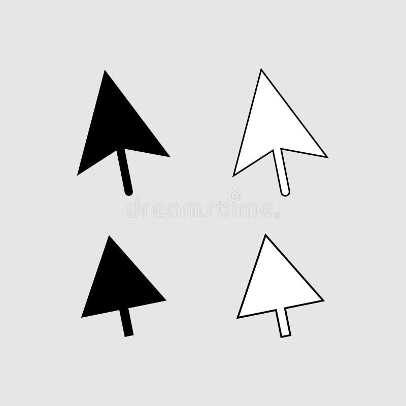 Klik pictogram vectorteken vector illustratie