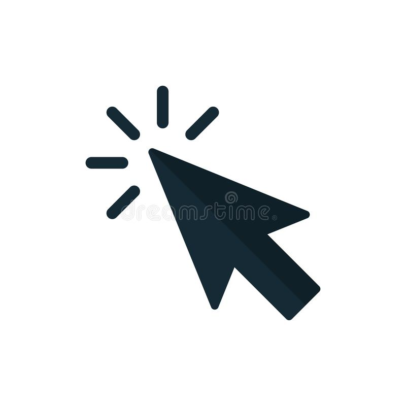 Klik pictogramvector Wijzerpijl vector illustratie