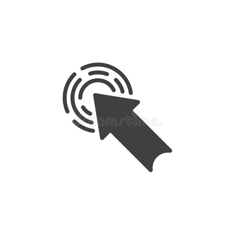 Klik pijl vectorpictogram stock illustratie