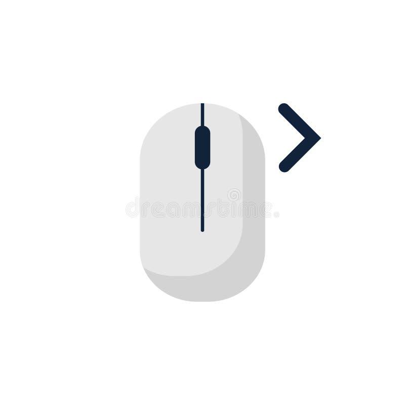 klik right left het pictogramsymbool van de computermuis Vlak stijlontwerp Vector illustratie stock illustratie