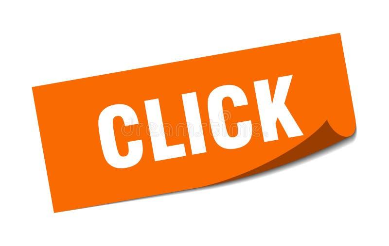 klik sticker stock illustratie