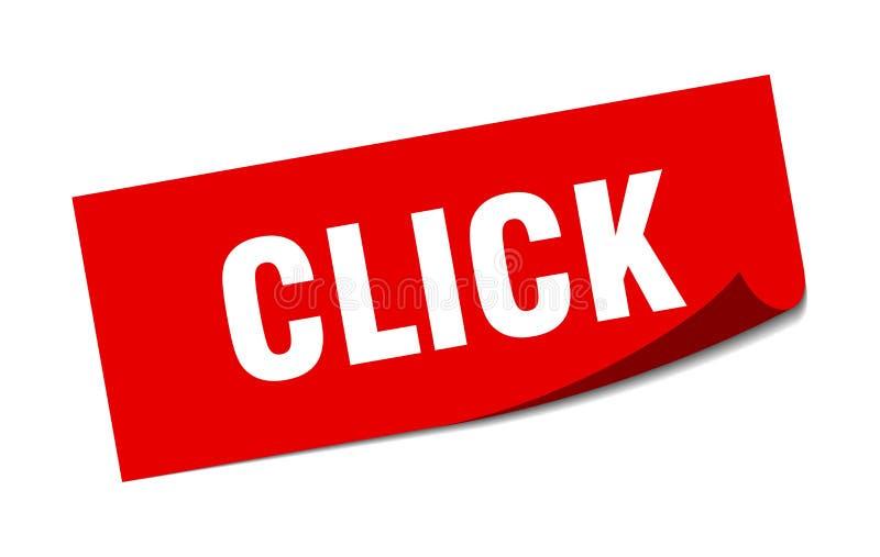 klik sticker royalty-vrije illustratie