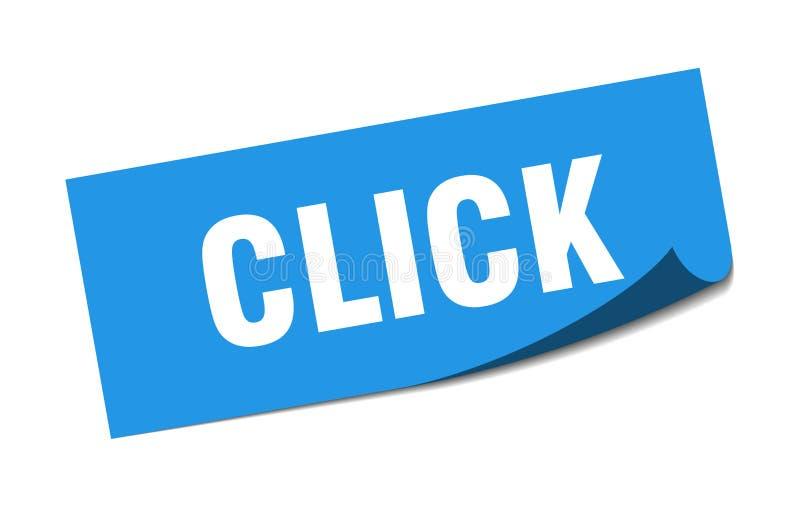 klik sticker vector illustratie