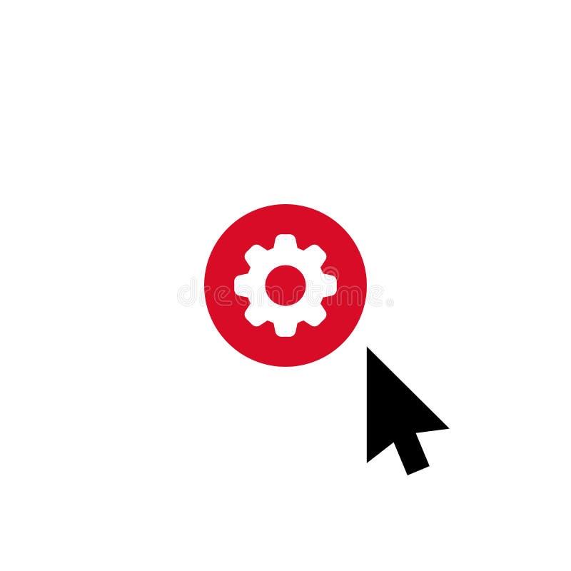 Klik vectorpictogram, curseursymbool met montagesteken Het pictogram van de curseurpijl en past, opstelling, leidt, verwerkt symb vector illustratie