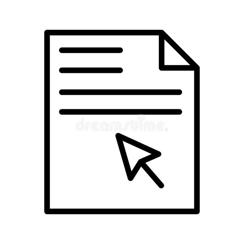 Klik vectorpictogram van de dossier het dunne lijn royalty-vrije illustratie