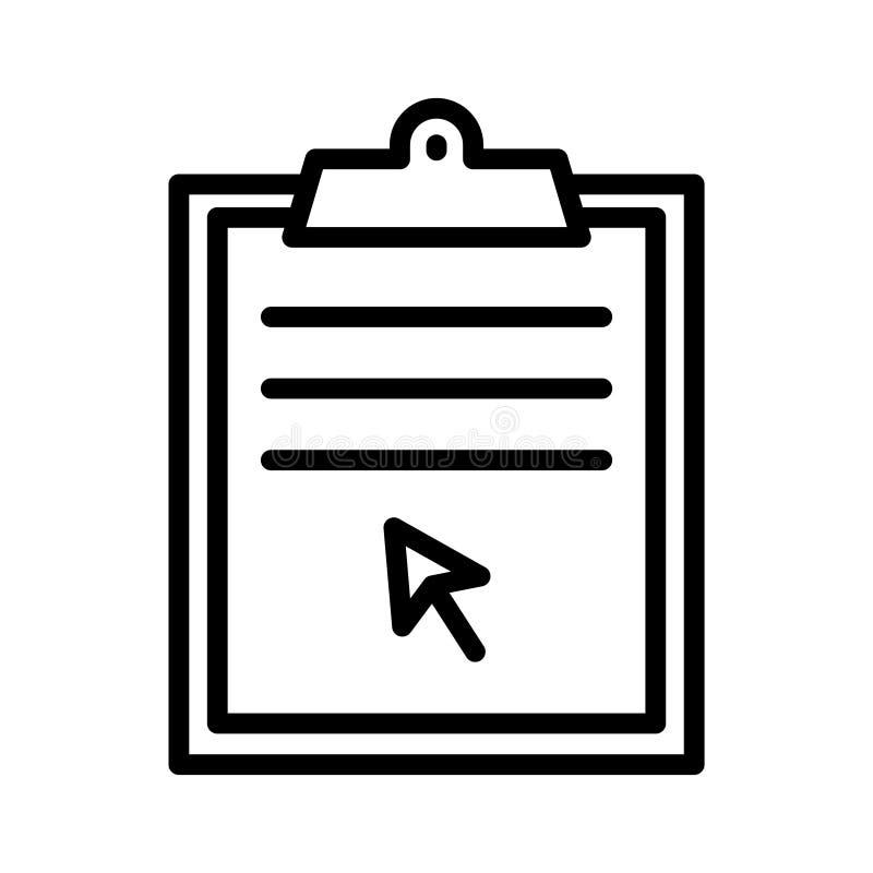 Klik vectorpictogram van de project het dunne lijn vector illustratie