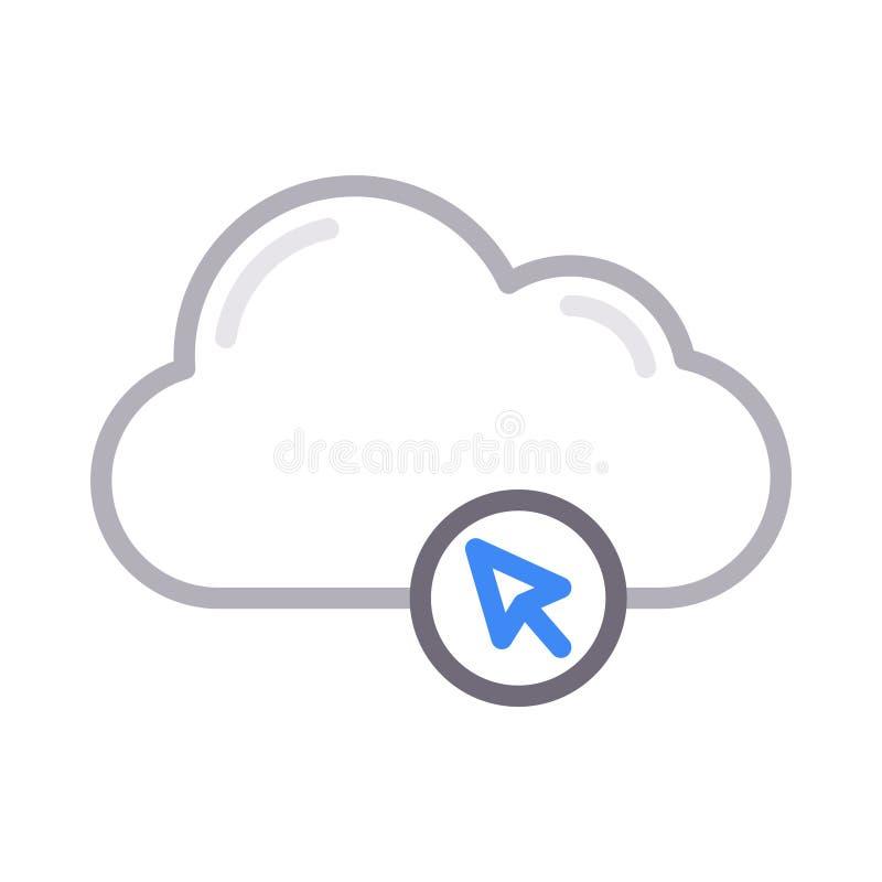 Klik vectorpictogram van de wolken het dunne rassenbarrière stock illustratie