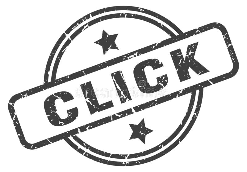 klik zegel vector illustratie