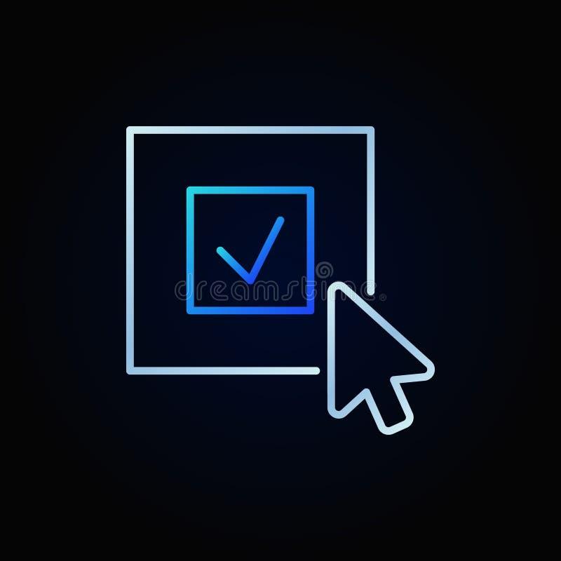 Klika dalej czek oceny wektorową jaskrawą ikonę lub loga element ilustracji
