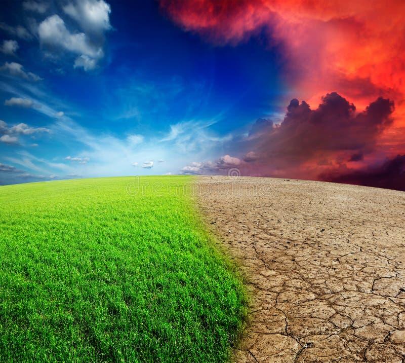 Klimaänderung stockfoto