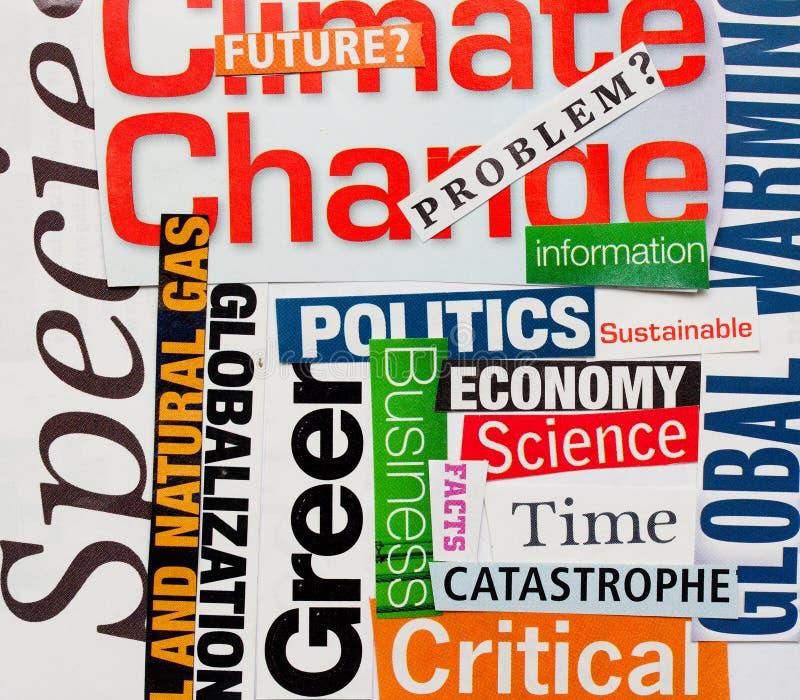 Klimaänderungshintergrund lizenzfreies stockfoto