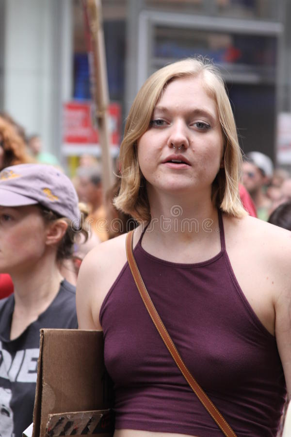 Klima März NYC 2014 stockbild