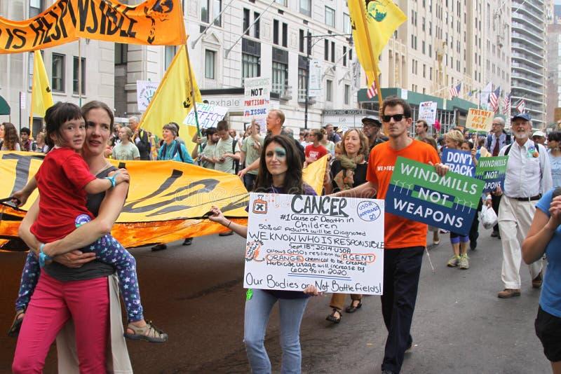 Klima März NYC 2014 stockfotografie