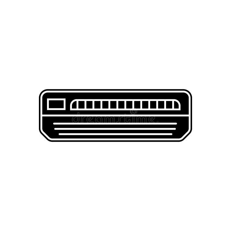Klimaanlagenikone Element von Geräten für bewegliches Konzept und Netz Appsikone Glyph, flache Ikone für Websiteentwurf und vektor abbildung
