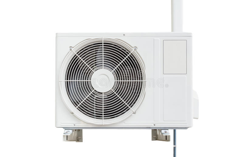 Klimaanlagenkompressor Lokalisiert auf weißem Hintergrund mit c lizenzfreie stockfotos
