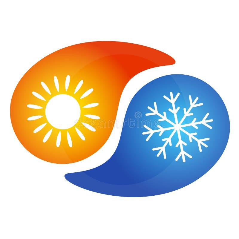 Klimaanlagenzeichen vektor abbildung. Illustration von ...