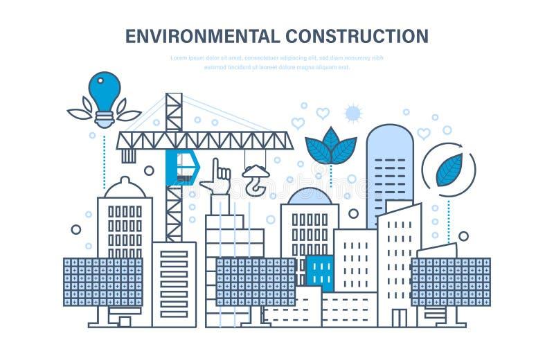 Klimabau Bauhäuser, Standorte Schutz von Umwelt, eco Betriebsmittel stock abbildung