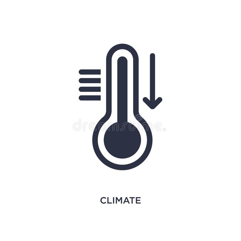 Klimaikone auf weißem Hintergrund Einfache Elementillustration vom Meteorologiekonzept stock abbildung