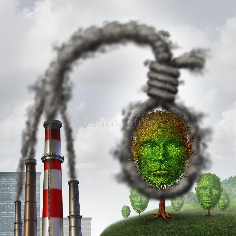 Klimaselbstmord lizenzfreie abbildung