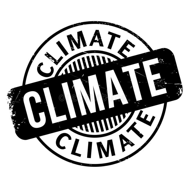Klimastempel stock abbildung