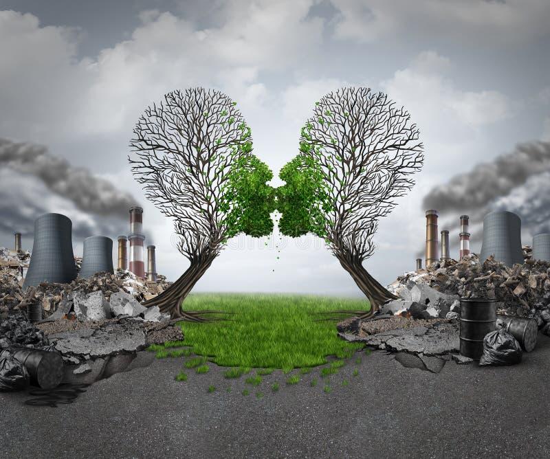 Klimatåterställning stock illustrationer