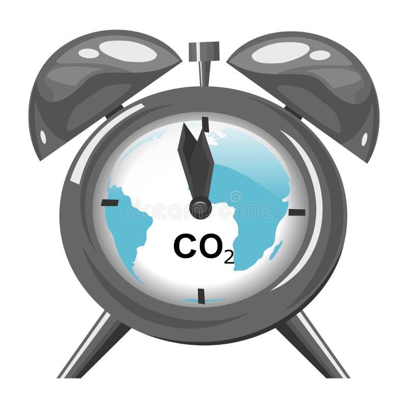 Klimatförändring- och global uppvärmningbegrepp stock illustrationer