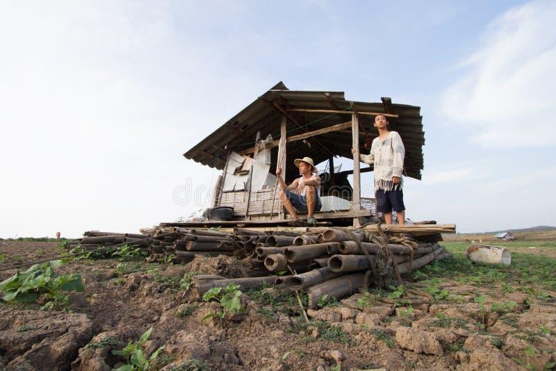 Klimatförändring på Asien royaltyfria bilder