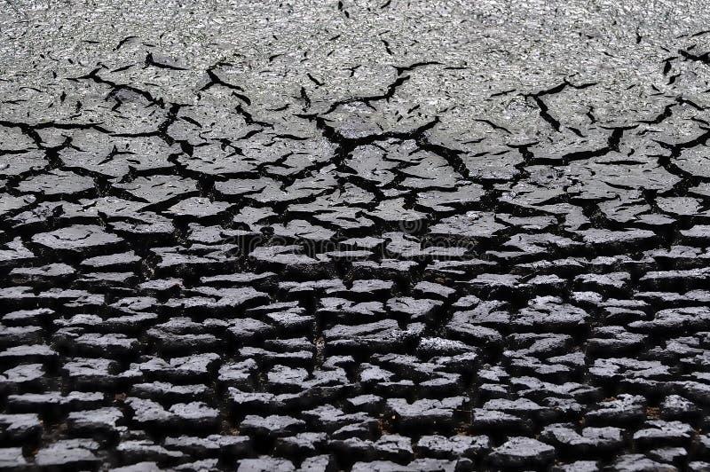 Klimatu odmienianie - sucha ziemia fotografia stock