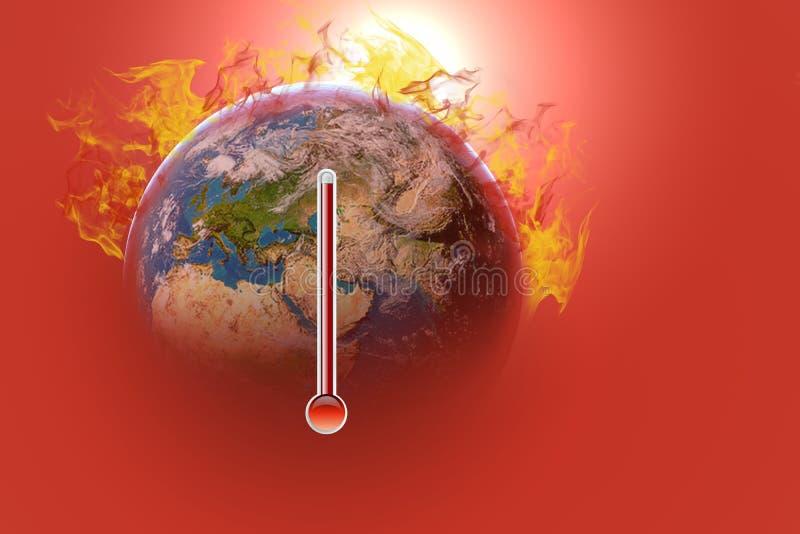 Klimatvarning på mitt hus arkivbilder