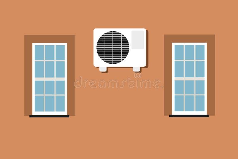 Klimatyzatoru, powietrza conditioner dla lotniczy uwarunkowywać /air uwarunkowywać/ ilustracja wektor