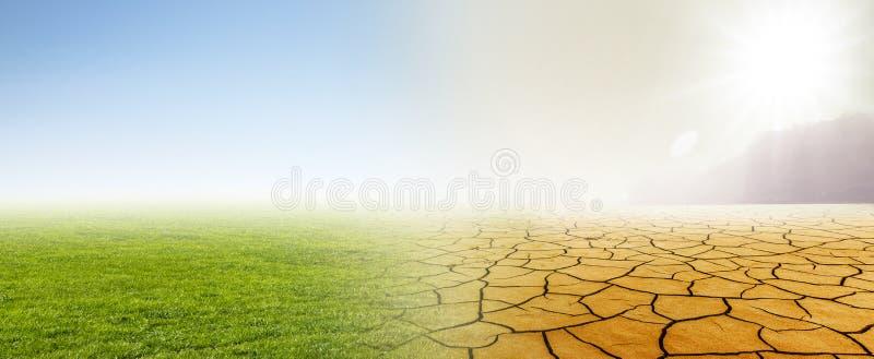 Klimawandel von der Wiese zu verlassen vektor abbildung