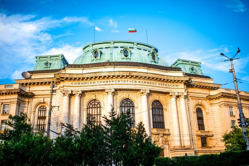 Kliment Ohridski uniwersytet w Sofia obraz stock
