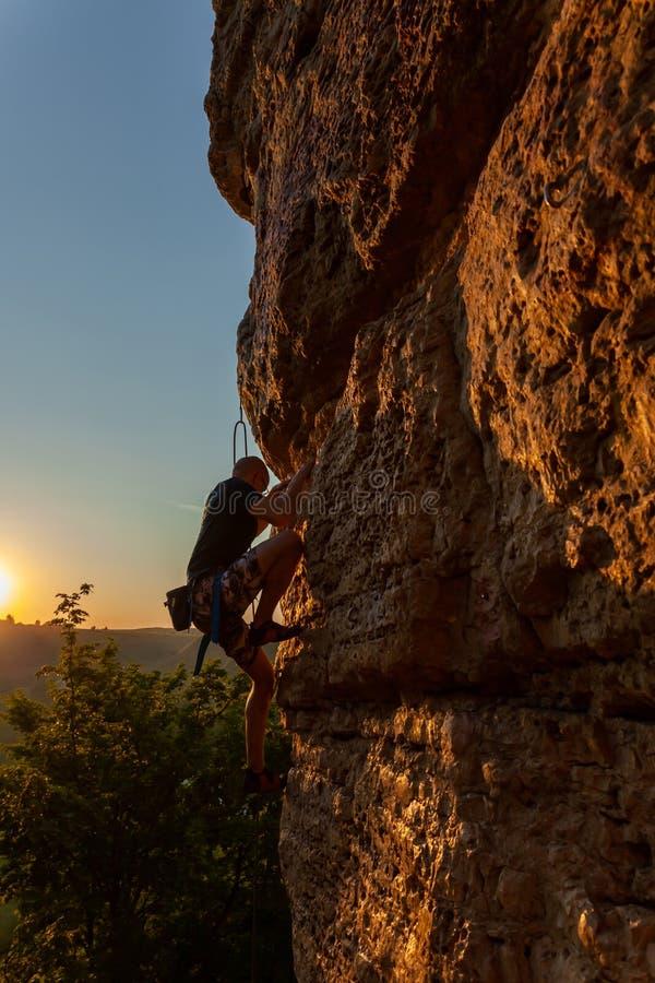 Klimmer op de berg royalty-vrije stock afbeeldingen