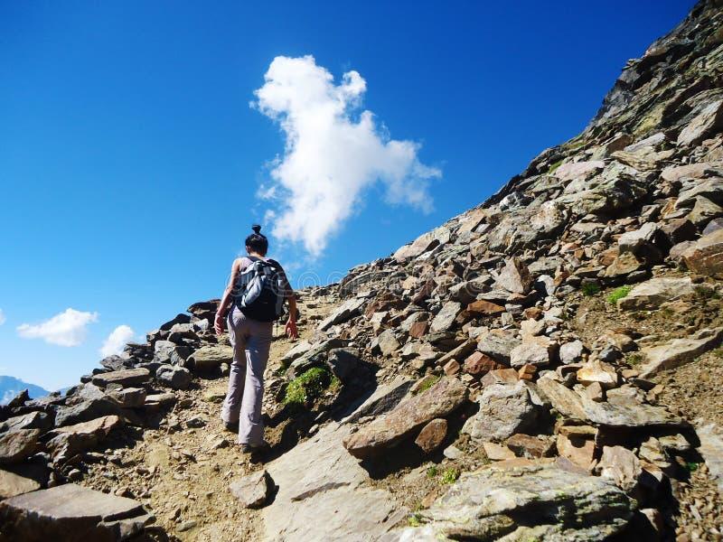 Klimmer op het Dolomiet, Italië royalty-vrije stock foto