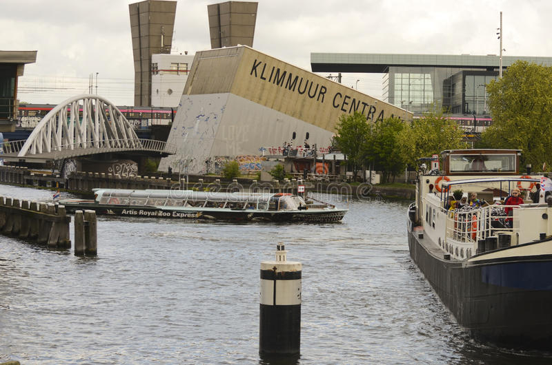 Klimmuur Centraal a Amsterdam, Paesi Bassi immagine stock libera da diritti