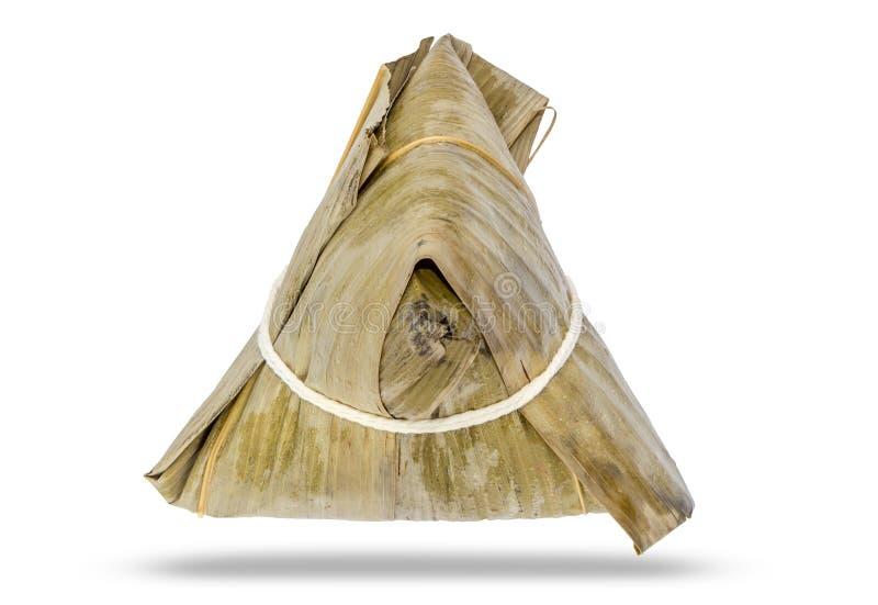 Klimpen för klibbiga ris för traditionell kines & x28en; Zongzi& x29; gjort från royaltyfria bilder