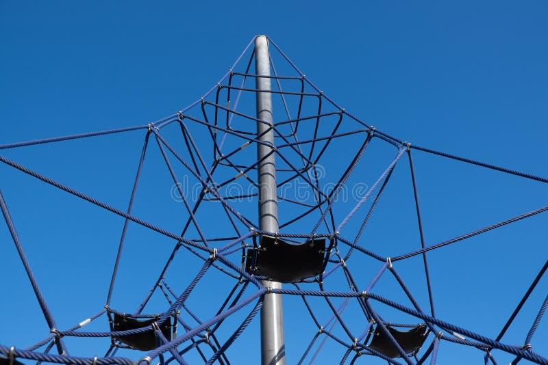 Klimrek in Whangarei-stadsbassin stock afbeeldingen