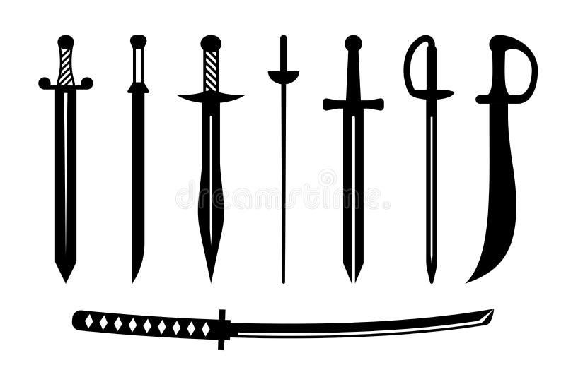 Klinge-alte Waffen-Auslegung stock abbildung