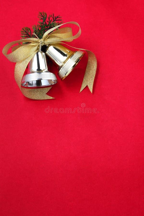 Klingel Bell mit Farbband lizenzfreie stockfotos