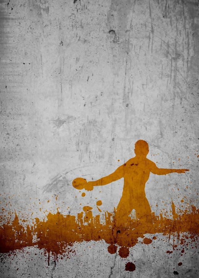 Klingeln pong Hintergrund lizenzfreies stockfoto