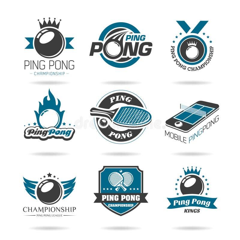 Klingeln pong Ikone eingestellt - 2 stock abbildung