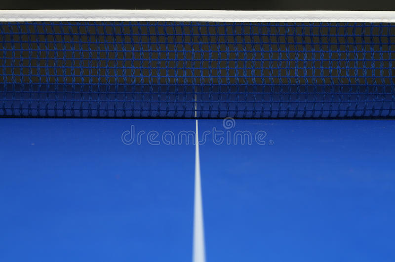 Klingeln pong Netz stockfoto