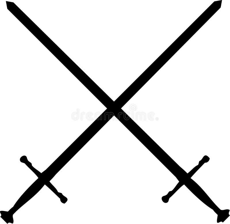 Klingen gekreuzt stock abbildung