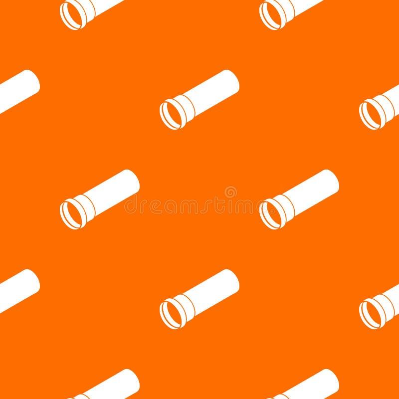Klingeryt drymby wzoru wektoru pomarańcze royalty ilustracja