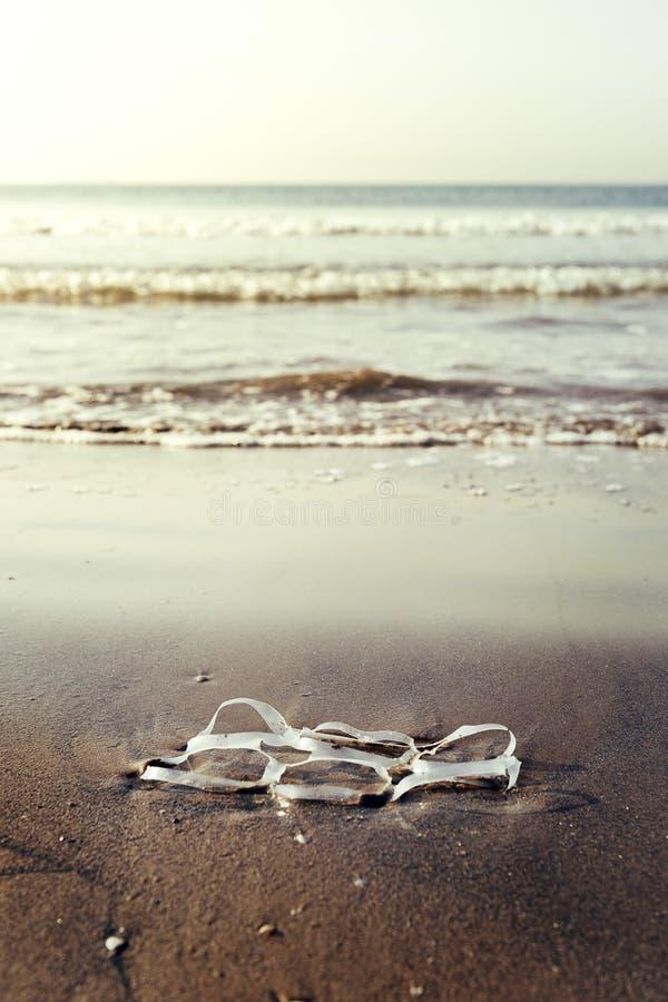 Klingeryt dzwoni zanieczyszczający morze zdjęcia royalty free